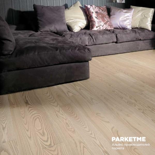 Паркетная доска Паркетная доска Ясень Жемчужный (Pearl Grey) от Coswick