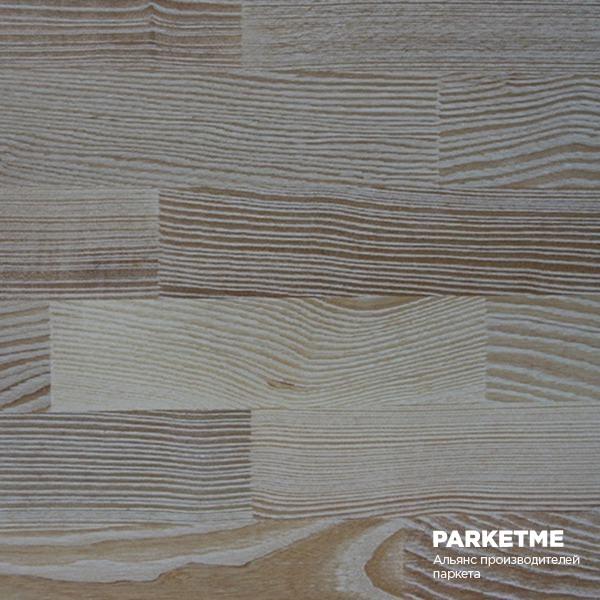 Паркетная доска Паркетная доска Ясень браш. белый лак (Brush white lacquer ash) от Grabo