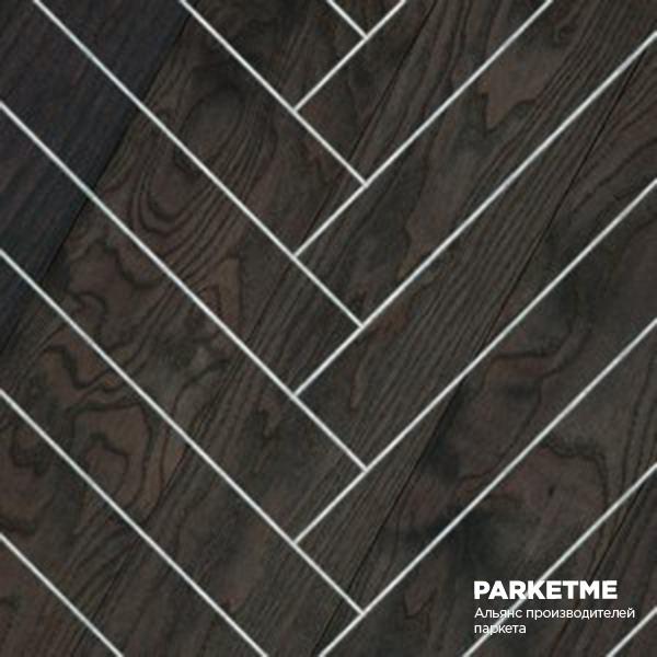Массивная доска Массивная доска Классическая елка Ясень Carbon (Карбон) от Hajnowka