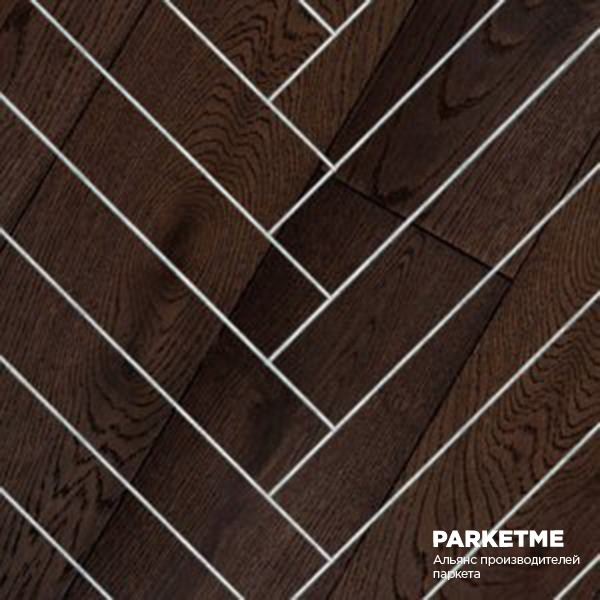 Массивная доска Массивная доска Классическая елка Дуб Brun (Бран) от Hajnowka