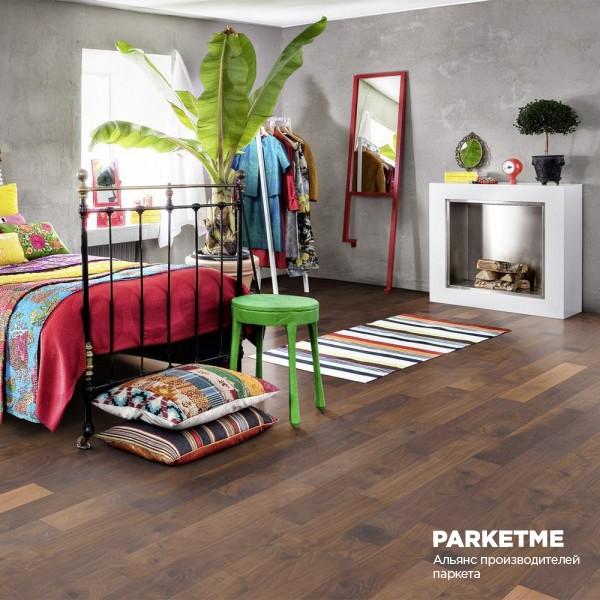 Паркетная доска Паркетная доска Орех Groove (Грув) от Kahrs