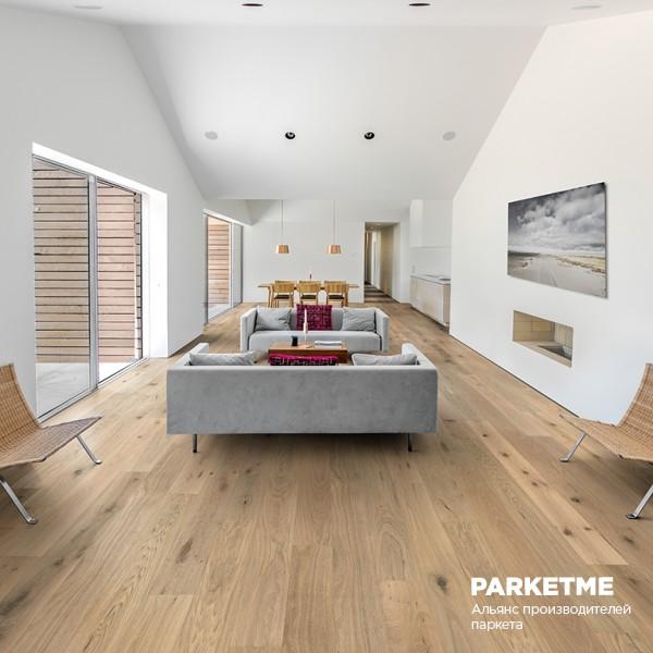 Паркетная доска Дуб Шепот (Oak Nouveau Whisper) от Kahrs