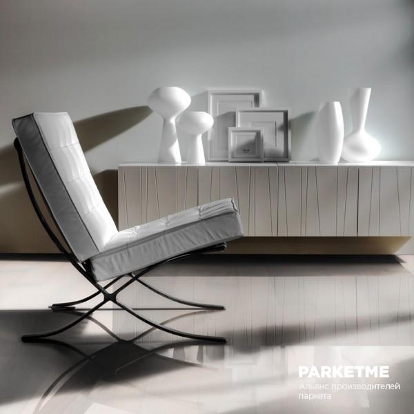 Паркетная доска Паркетная доска Бук Белое сияние (Opaque) от Kahrs