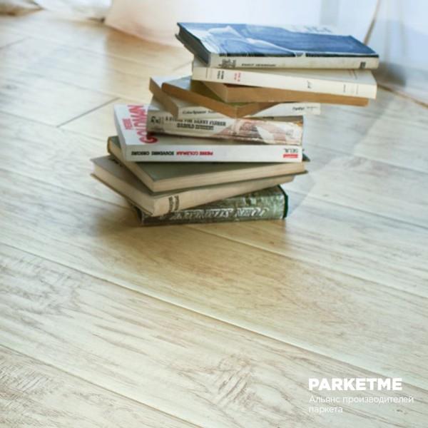 Паркетная доска Паркетная доска Дуб Снежный (Snow) от Kaiser
