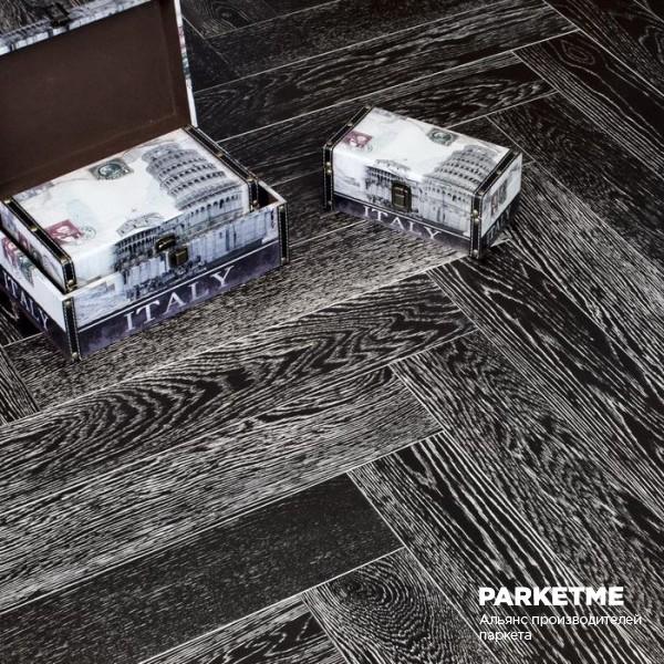Штучный паркет Штучный паркет Дуб Неро с брашированием от Marco Ferutti