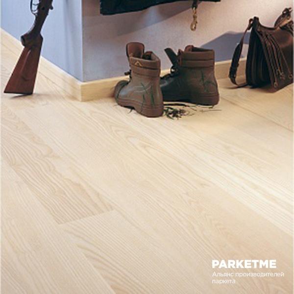 Паркетная доска Паркетная доска Ясень Prime white (Прайм белый) от Universal