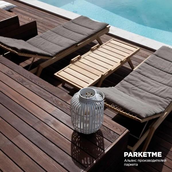 Террасная доска Термоясень Шоколад 19х90х1500-3000 от Le Parqueteur