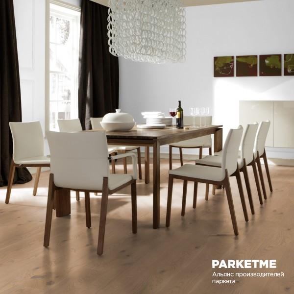 Паркетная доска Дуб Устрица (Auster) натур Comfort ProActive+ от Weitzer Parkett