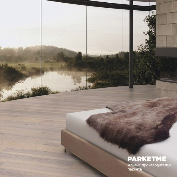 Паркетная доска Ясень Полар  (Polar) рустик Comfort ProActive+ от Weitzer Parkett