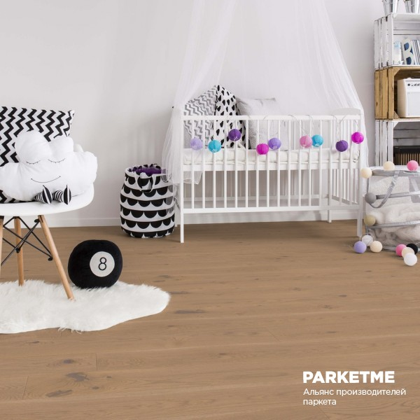 Паркетная доска Дуб Устрица (Auster) рустик Comfort ProActive+ от Weitzer Parkett