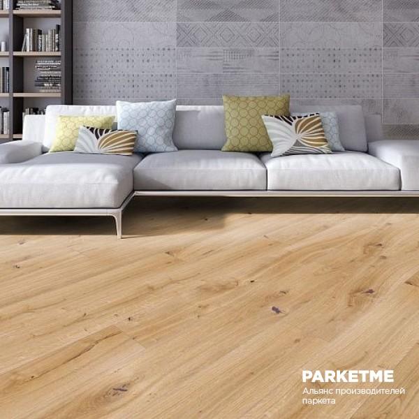 Паркетная доска Дуб Айс натур Charisma ProActive+ от Weitzer Parkett