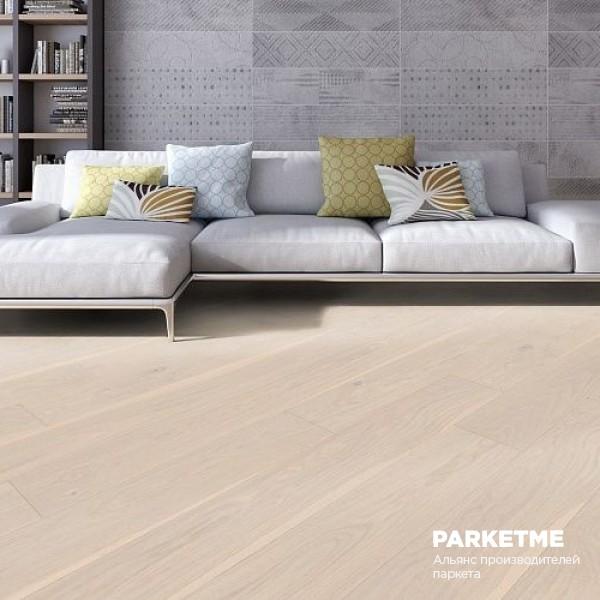 Паркетная доска Дуб Полар натур браш Charisma ProActive+ от Weitzer Parkett