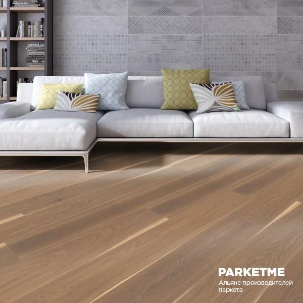 Паркетная доска Дуб серый Трюфель кантри Charisma ProActive+ от Weitzer Parkett
